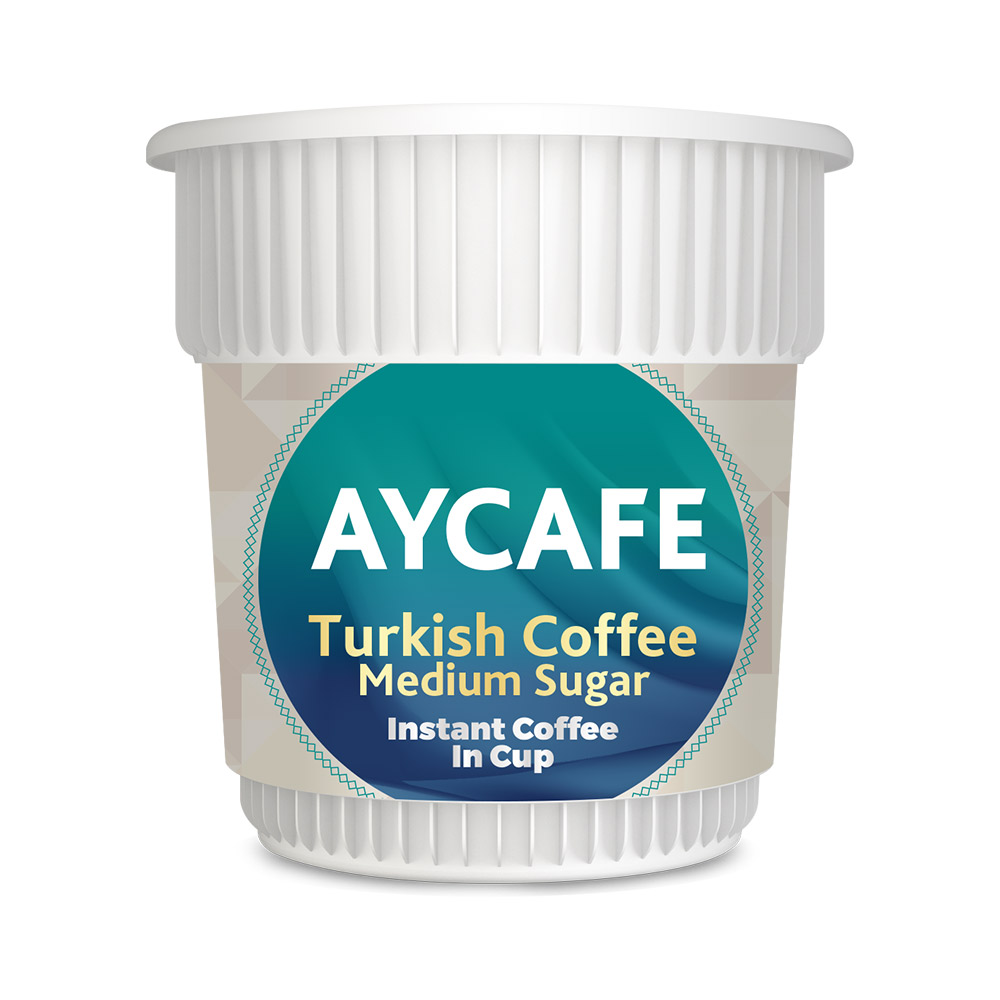 Aycafe Turkish Coffee (Medium Sugar) Instant Coffee In Cup