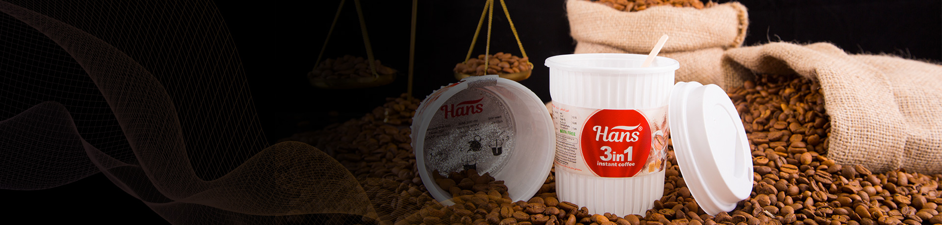 Hans Gold 50 gr Instant Coffee In Glass