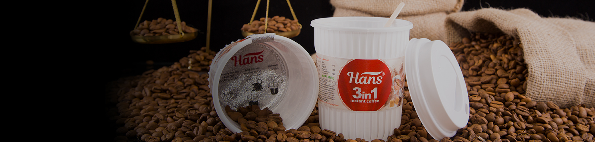 Hans 3in1 Instant Coffee In Cup