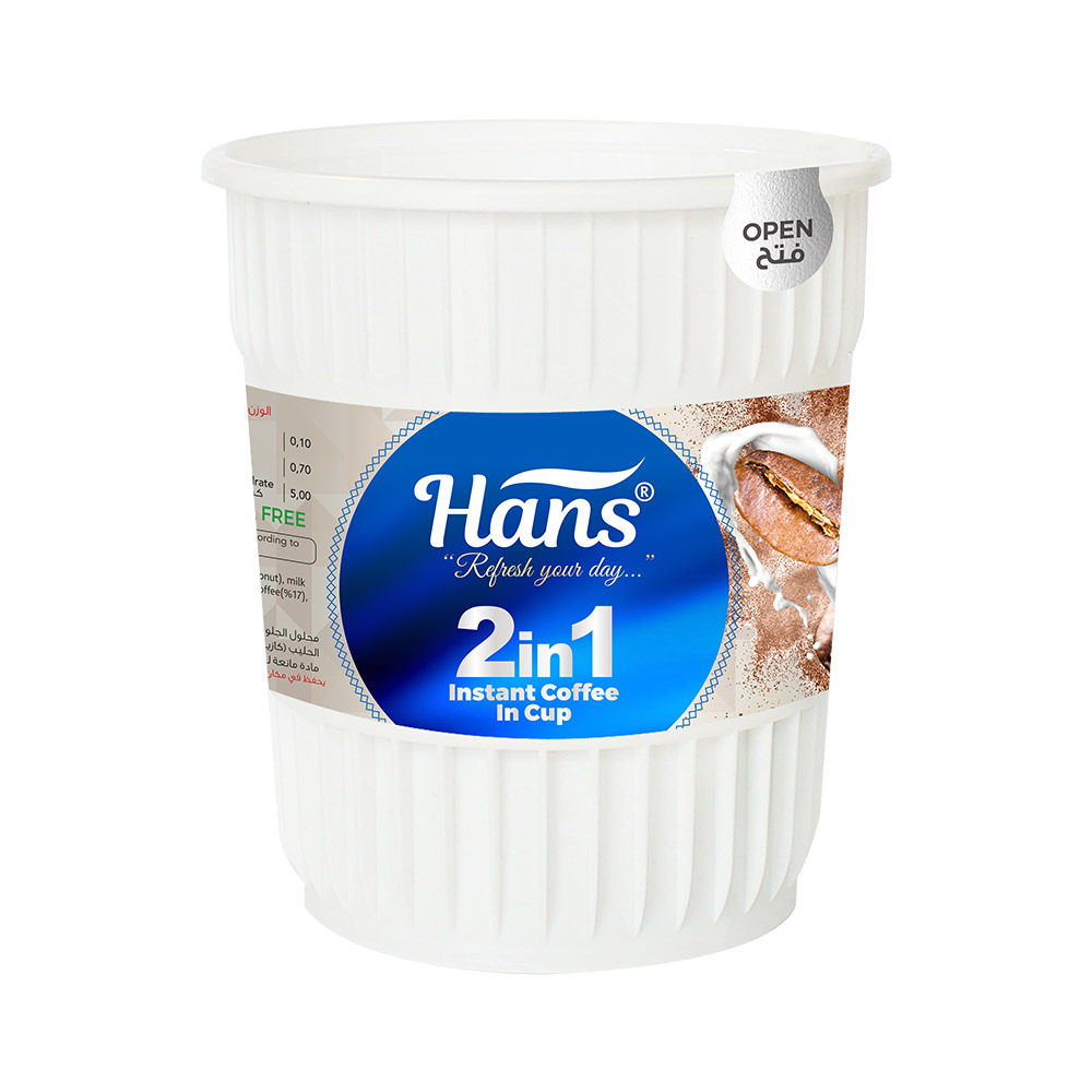 Hans 2in1 Instant Coffee In Cup