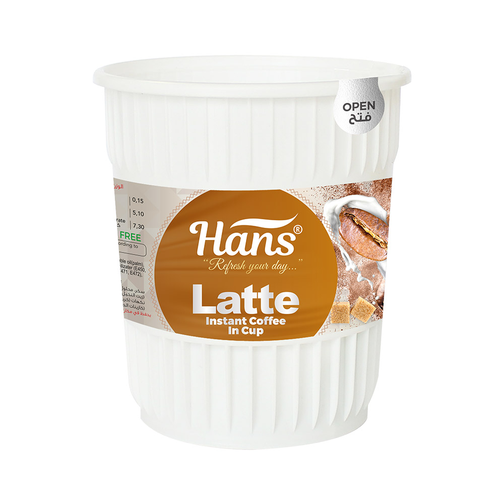 Hans Latte Instant Coffee In Cup